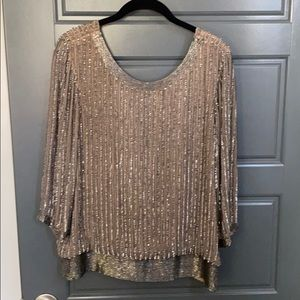 Gorgeous beaded and sequin blouse by Parker